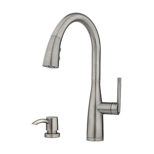 Tayga Pull-Down Sprayer Kitchen Faucet in Slate
