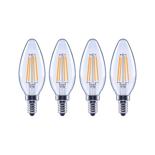 60W Equivalent Daylight (5000K) B10 Dimmable LED Light Bulb (4-Pack) - ENERGY STAR