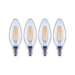 60W Equivalent Soft White (2700K) B10 Dimmable LED Light Bulb (4-Pack)