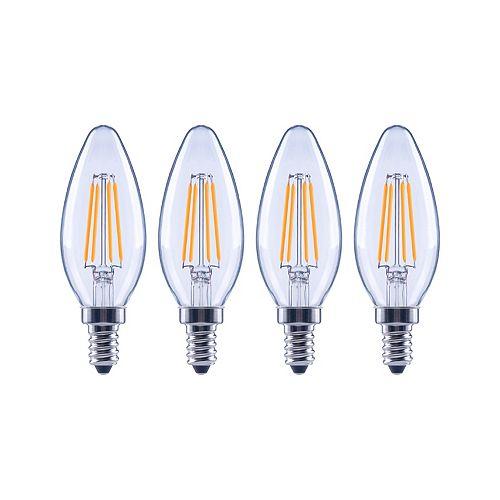 60W Equivalent Soft White (2700K) B10 Dimmable LED Light Bulb (4-Pack) - ENERGY STAR