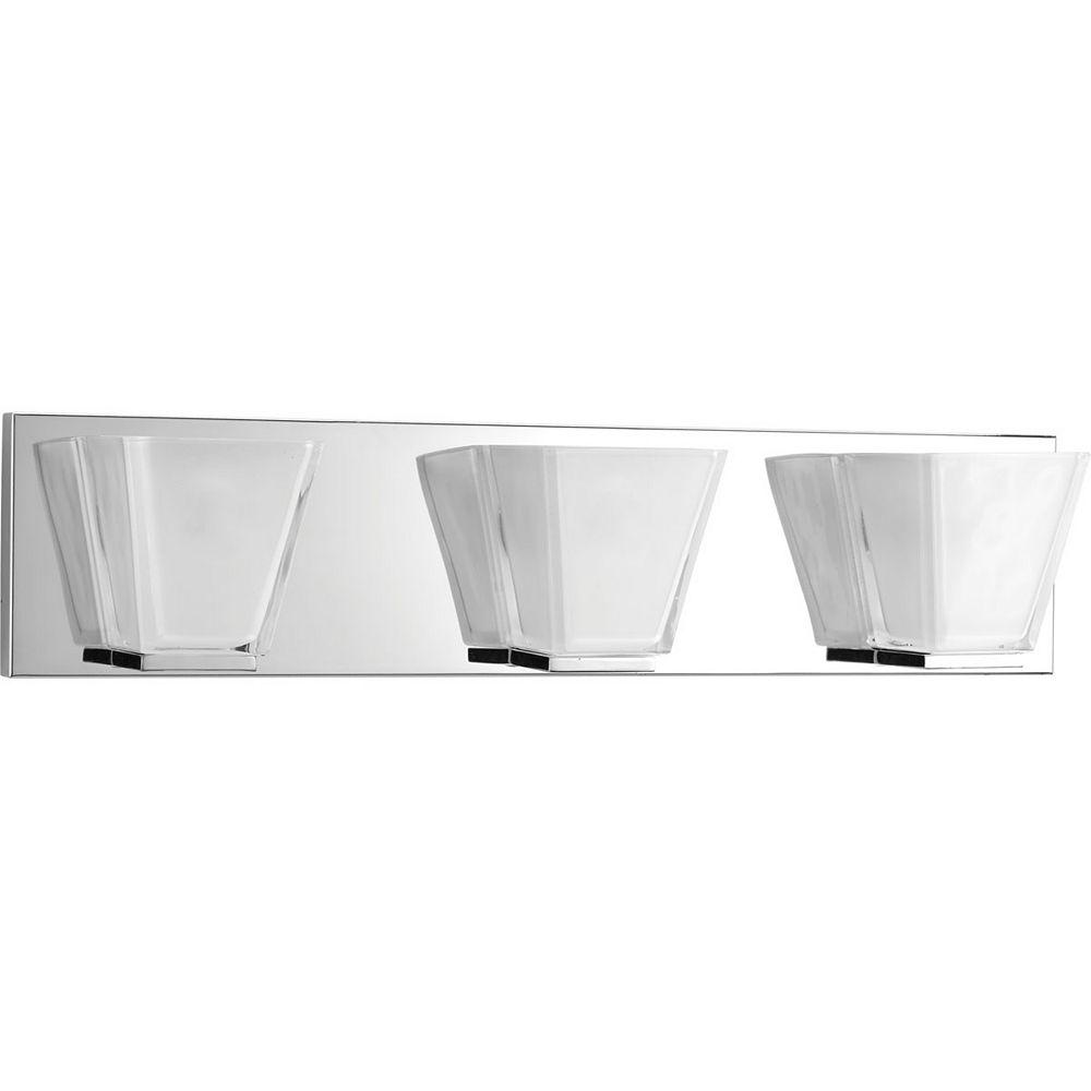 Progress Lighting Collection Streaming  Luminaire pour meuble-lavabo à trois ampoules, chrome poli