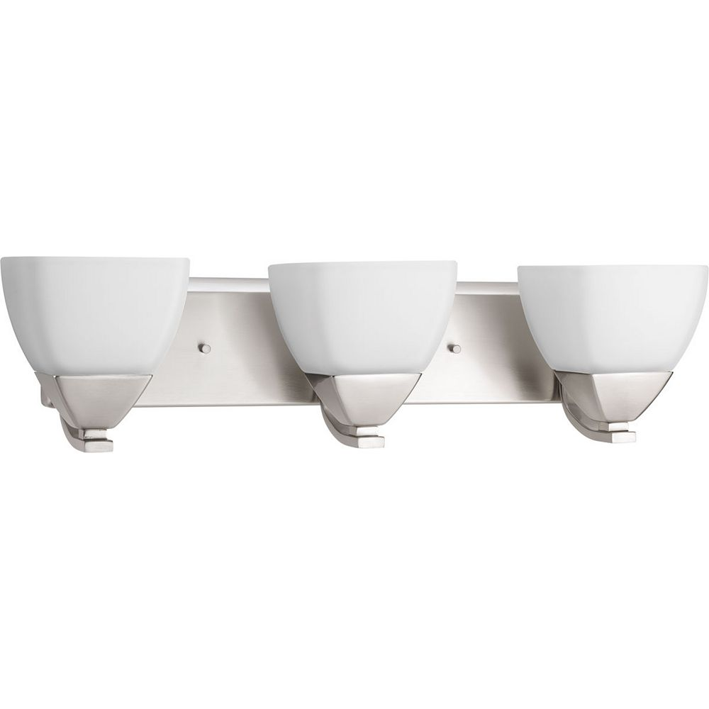 Progress Lighting Appeal Collection 3-light Brushed Nickel Vanity