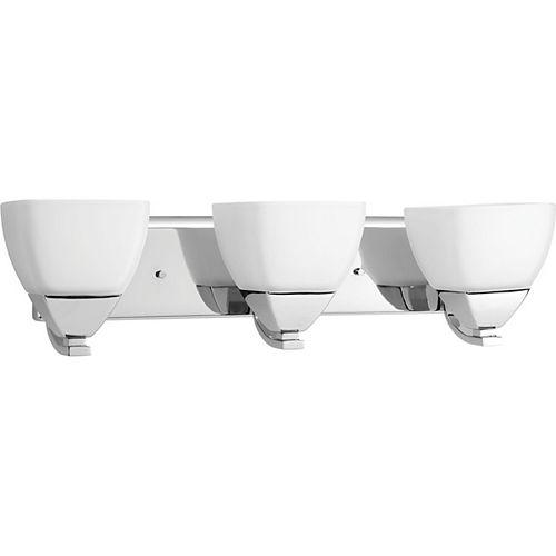 Progress Lighting Collection Appeal – Luminaire pour meuble-lavabo à troisampoules, chrome poli