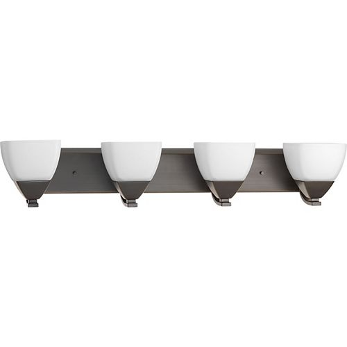 Progress Lighting Collection Appeal – Luminaire pour meuble-lavabo à quatreampoules, bronze antique
