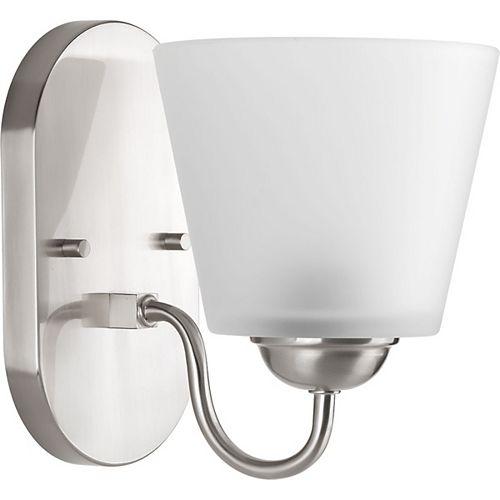 Progress Lighting Collection Arden – Luminaire pour meuble-lavabo à ampoule unique, nickel brossé