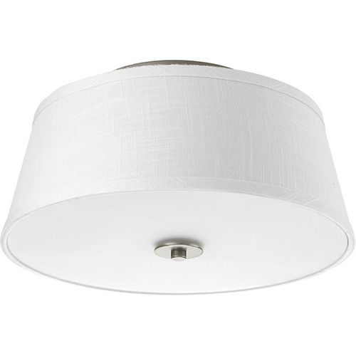 Progress Lighting Arden Collection 2-light Brushed Nickel Flushmount