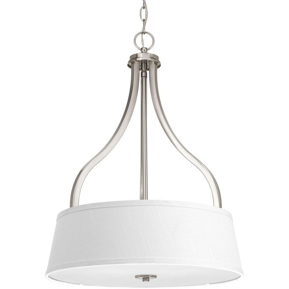 Progress Lighting Collection Arden – Luminaire suspendu pour entrée à trois ampoules, nickel brossé