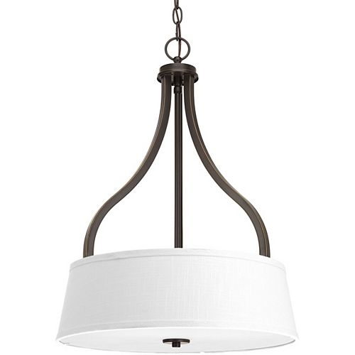 Progress Lighting Collection Arden – Luminaire suspendu pour entrée à troisampoules, bronze antique