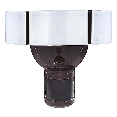 270 Degree Bronze Motion Outdoor Integrated LED Security Light