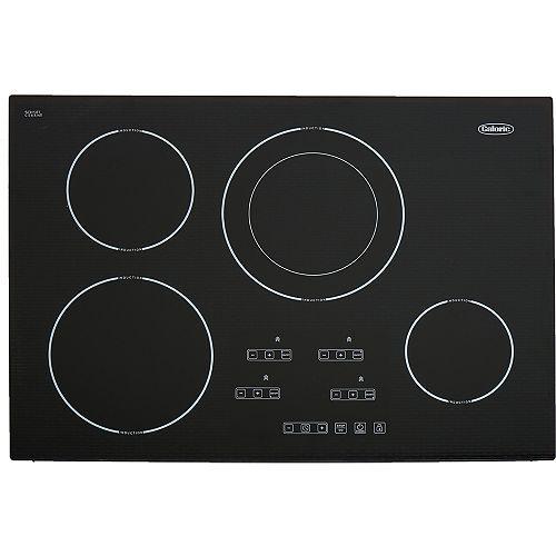 Surface de cuisson à induction, 4 brûleurs, 30 po, noir