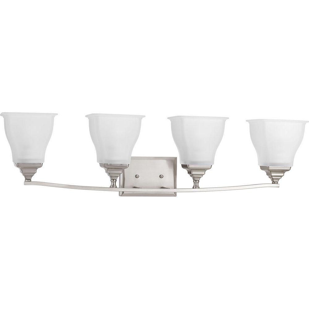 Progress Lighting Collection Callison  Luminaire pour meuble-lavabo à quatre ampoules, nickel brossé