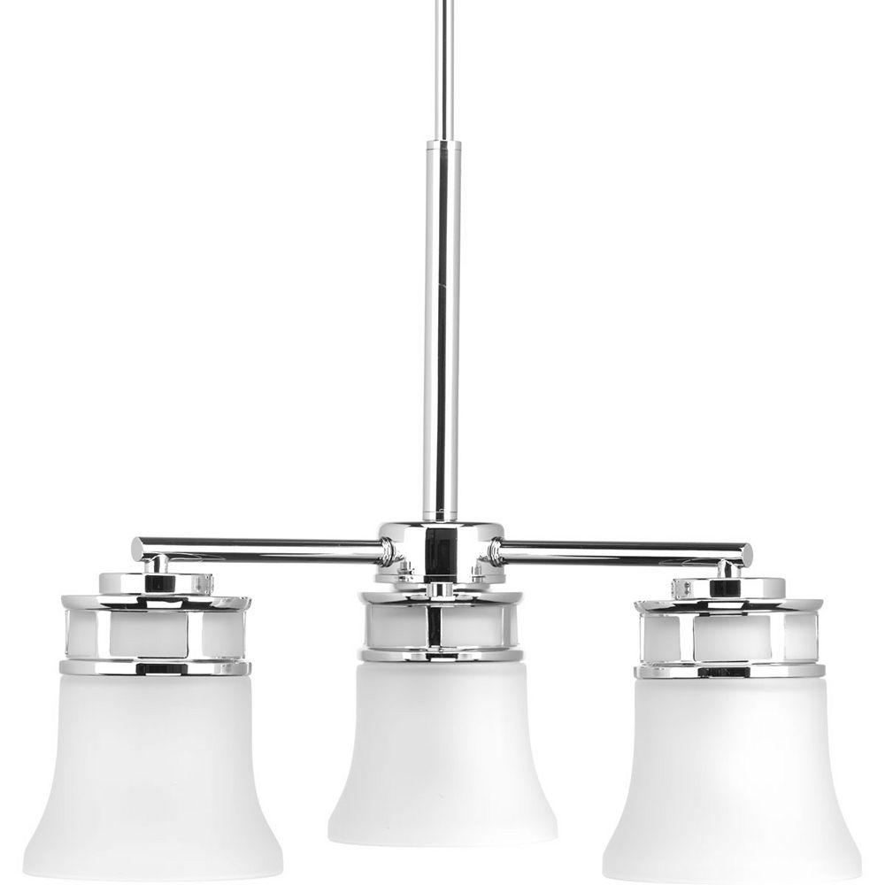 Progress Lighting Cascadia Collection 3-light Polished Chrome Chandelier