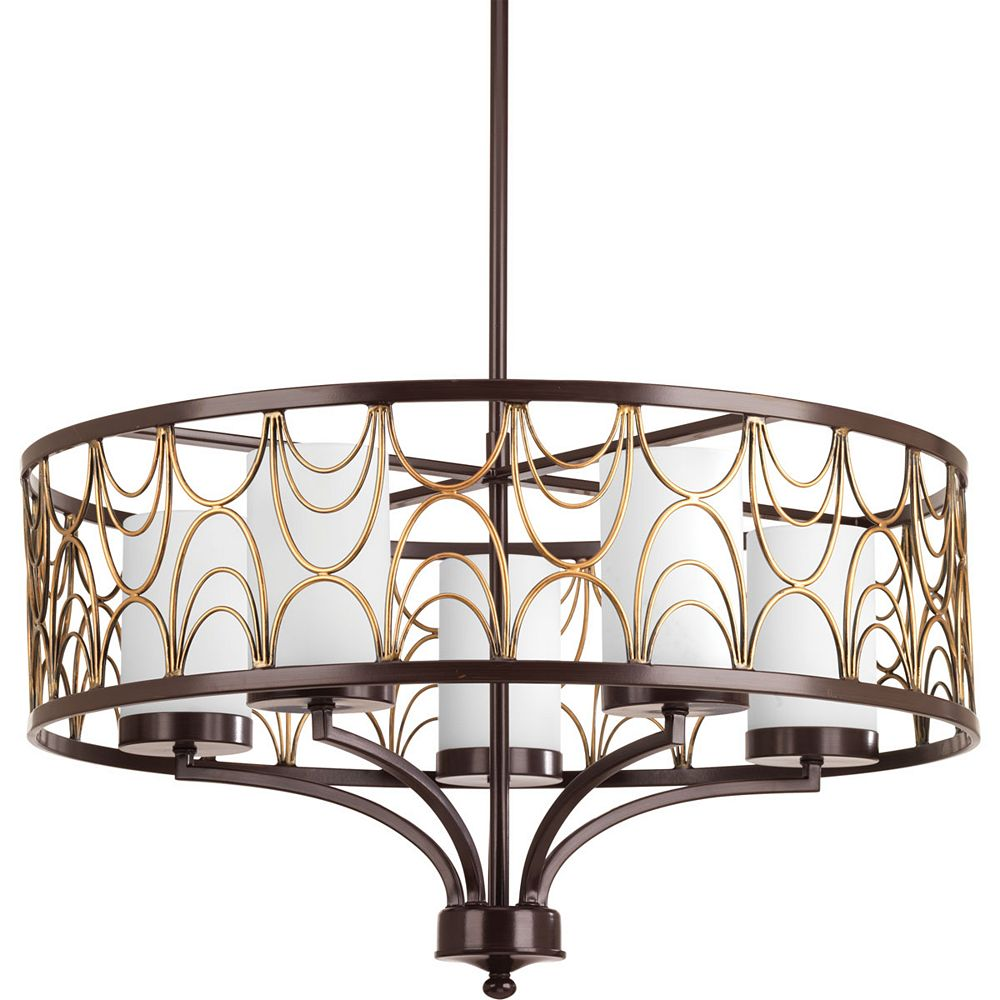 Progress Lighting Cirrine Collection 5-light Antique Bronze Chandelier