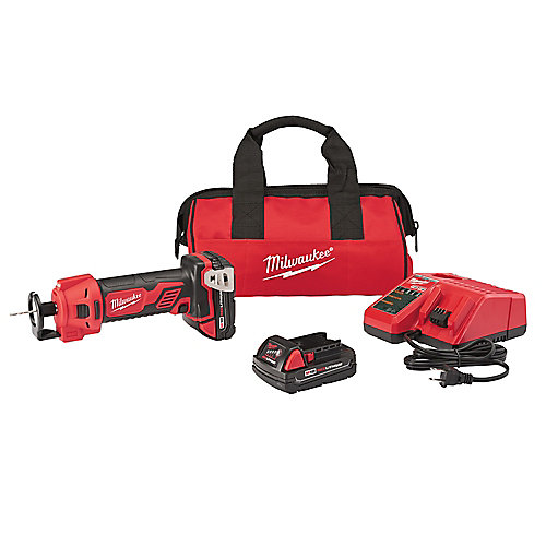 M18 18V Lithium-Ion Cordless Cut Out Tool Kit W/ (2) 1.5Ah Batteries, Charger & Tool Bag