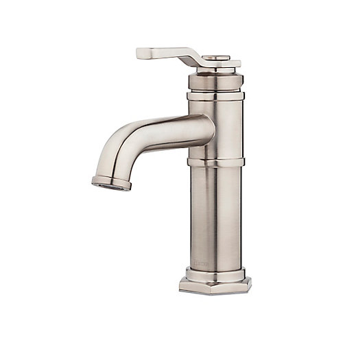 Belfast Centerset (4-inch) 1-Handle Low Arc Bathroom Faucet in Brushed Nickel with Lever Handle