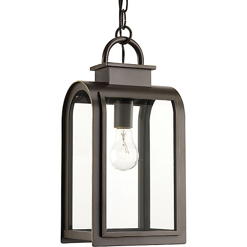 Refuge Collection 1-light Oil Rubbed Bronze Hanging Lantern