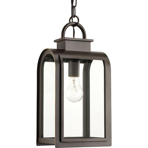 Progress Lighting Collection Refuge  Lanterne suspendue à ampoule unique, bronze huilé