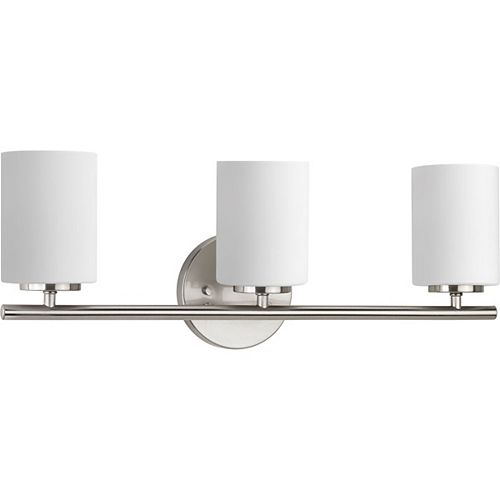 Replay Collection 3-Light Vanity Light Fixture in Brushed Nickel