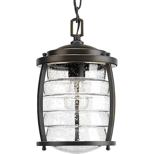 Collection Signal Bay – Lanterne suspendue à ampoule unique, bronze huilé