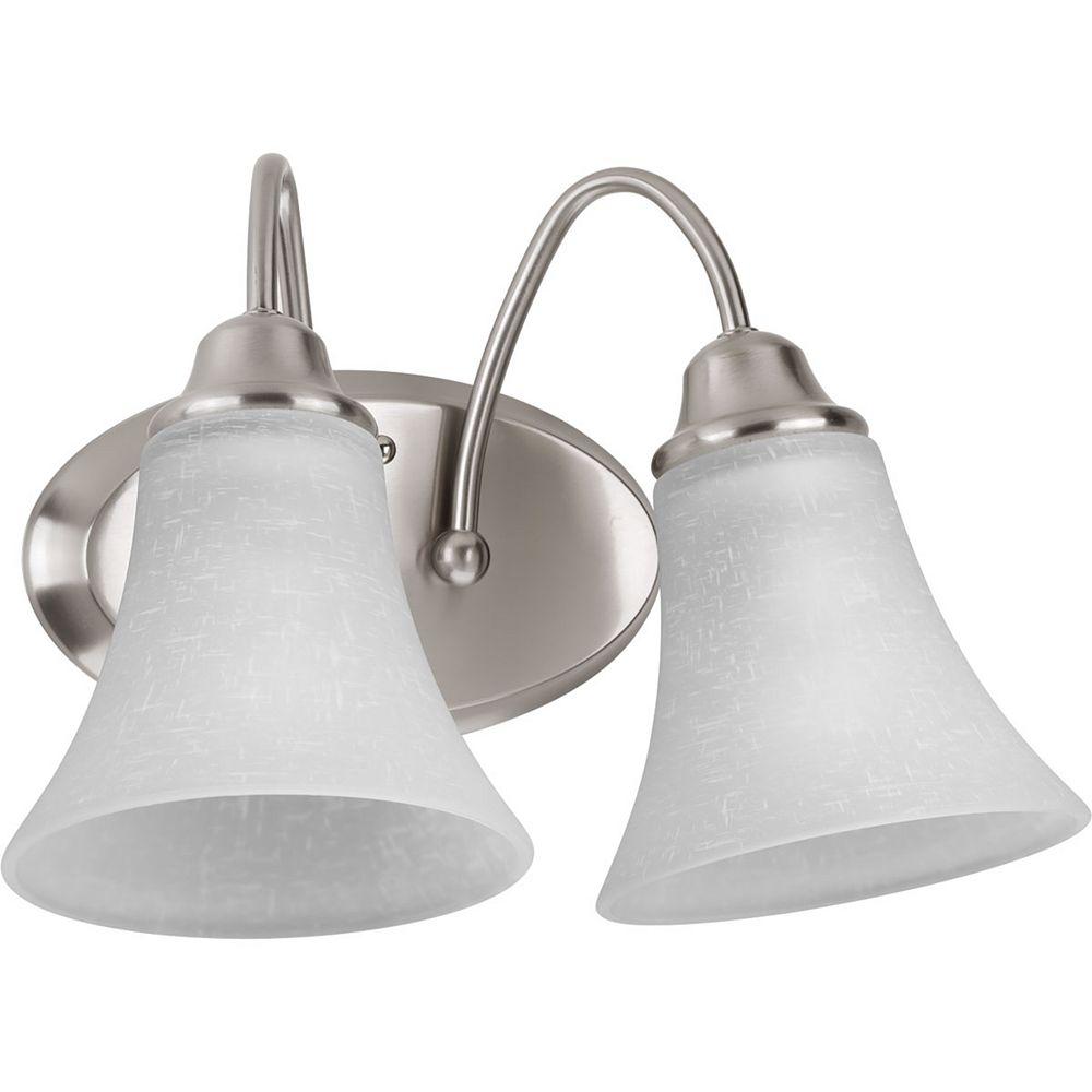 Progress Lighting Tally Collection 2-light Brushed Nickel Vanity