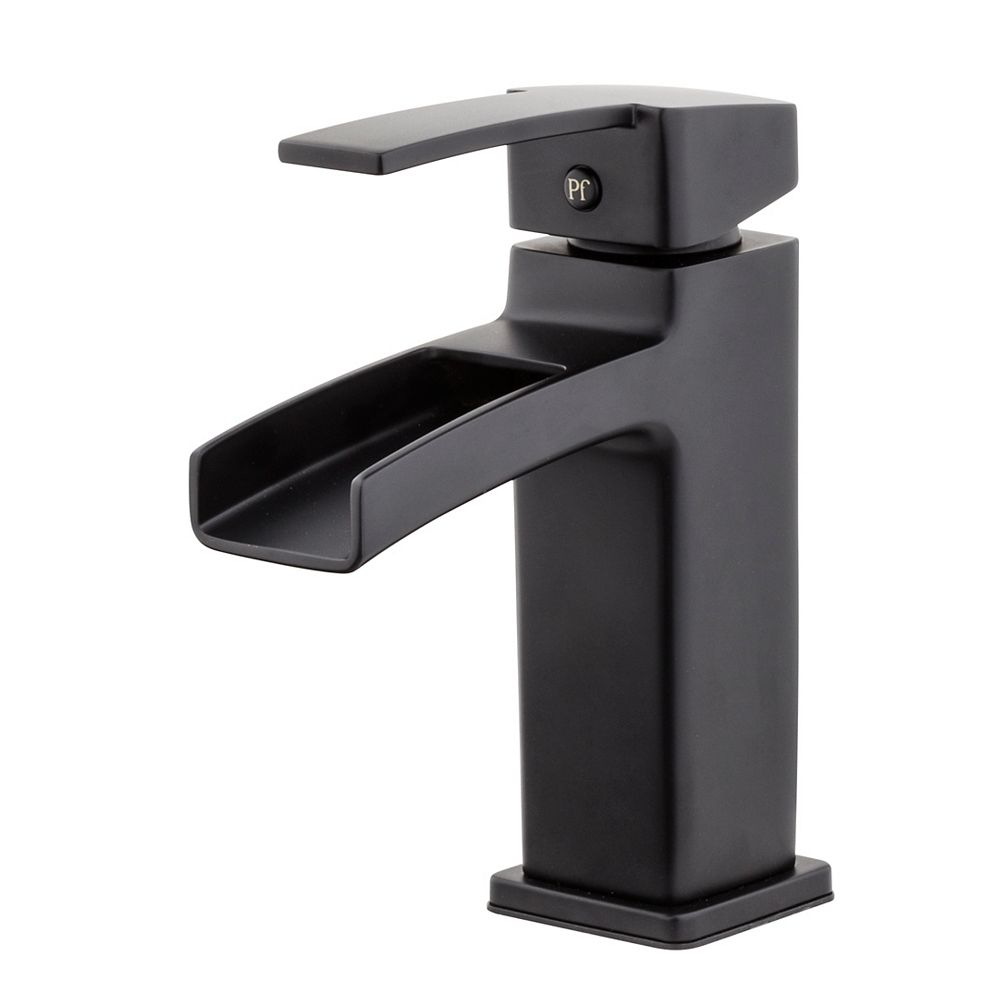Pfister Kamato Centerset (4-inch) 1-Handle Low Arc Waterfall-Flow Bathroom Faucet with Lever Handle