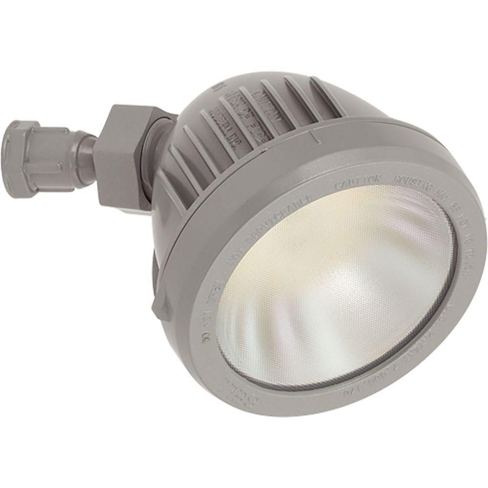 Progress Lighting Collection Security Light  Tête de projecteur à ampoule à DEL unique, gris métallique