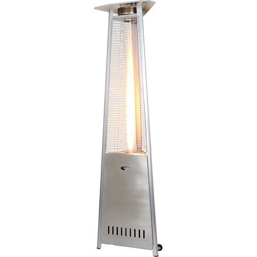 Commercial Grade Stainless Steel Glass Tube Propane Patio Heater