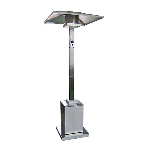 Tall Commercial Outdoor Patio Heater in Stainless Steel
