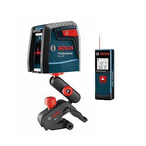65 ft. Range Leasure Measure with Self-Levelling Cross Line