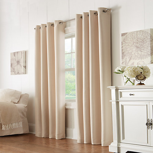 Grace 100% Blackout Grommet Curtain 52 inches width X 84 inches length, Champagne