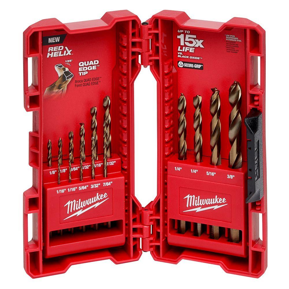 Milwaukee Tool Cobalt Drill Bit Set (15-Piece)