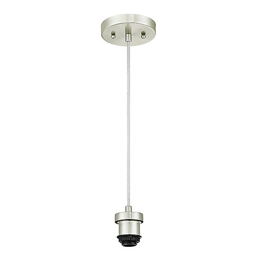 One-Light Flat Mini Pendant Kit Brushed Nickel