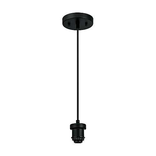 One-Light Flat Mini Pendant Kit Black