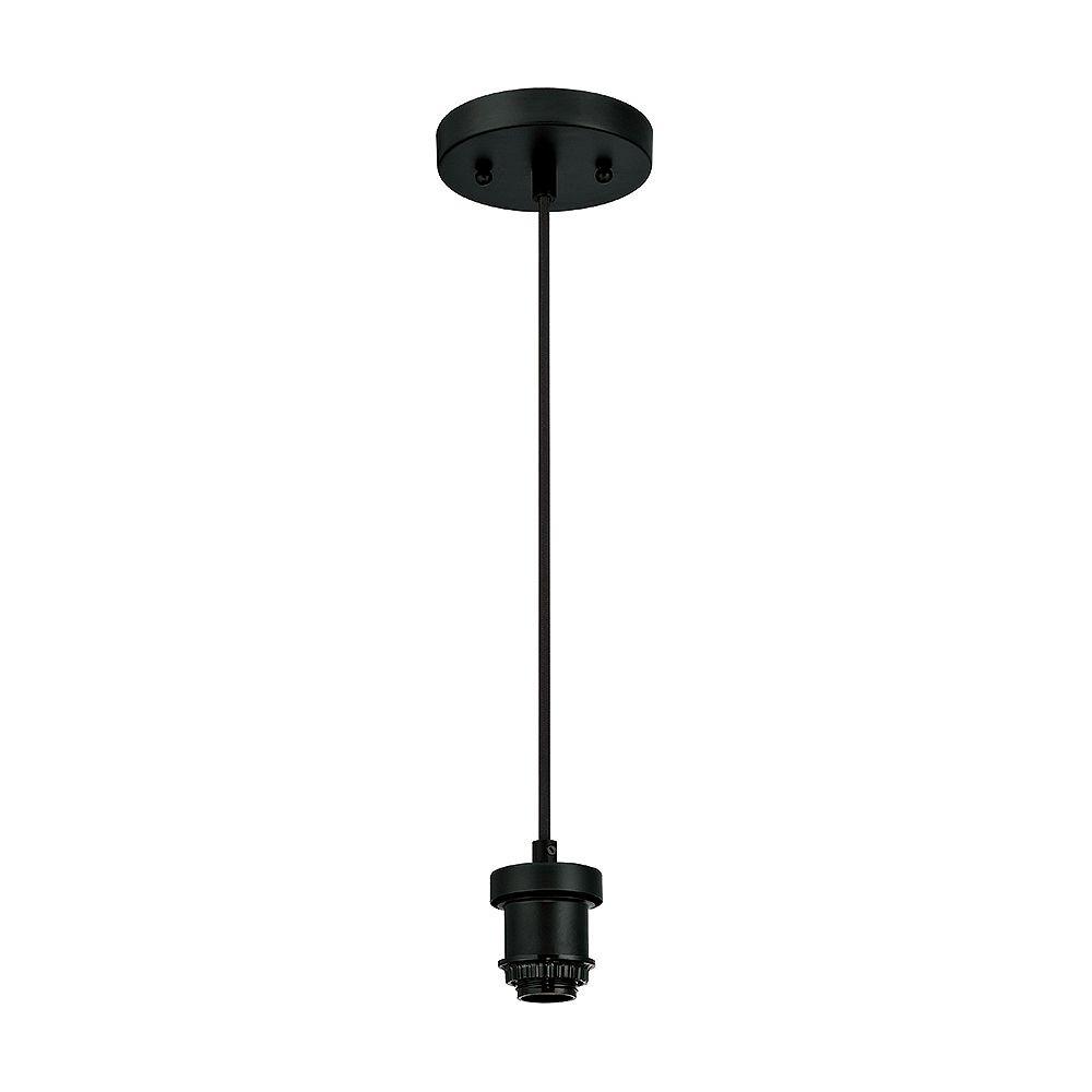 Westinghouse One-Light Flat Mini Pendant Kit Black