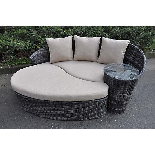 Ensemble Chaise Lounge et Ottoman