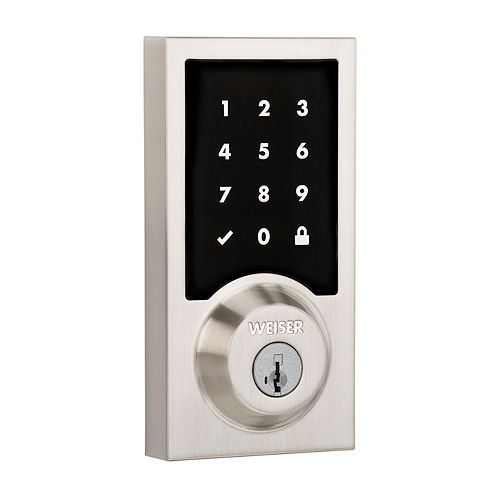Premis Satin Nickel Keyless Entry Smartcode Smart Home Connected Touch Deadbolt
