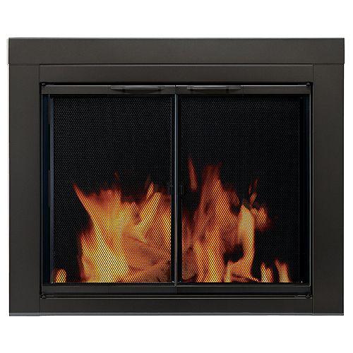 Pleasant Hearth Alpine Large Glass Fireplace Doors