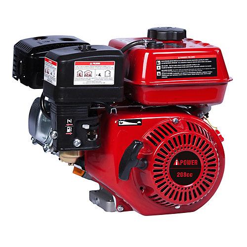 A- iPower AP170F 208cc / 7.0hp OHV Recoil Démarrer Horizontal Keyway arbre moteur à essence