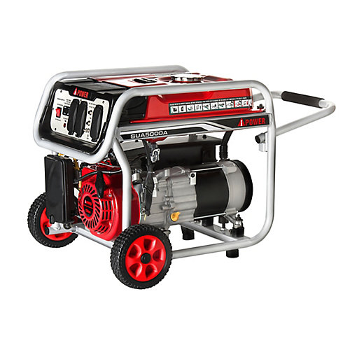 A-iPower 5,000W Gasoline Powered Manual Start Generator