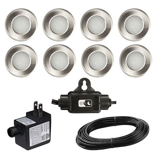 LED Deck and Stair Lights 8-Piece Kit