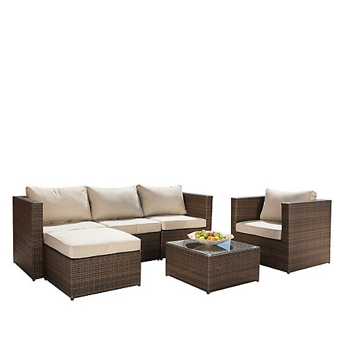 Milan 6-Piece Patio Seating Set