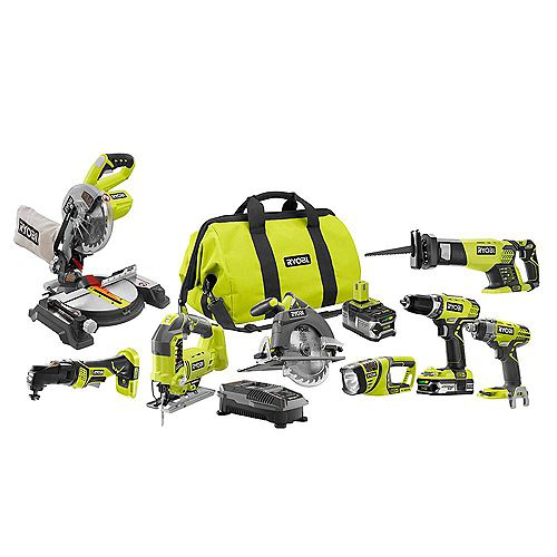 18V ONE+ Lithium-Ion Cordless Combo Kit (8-Tool)