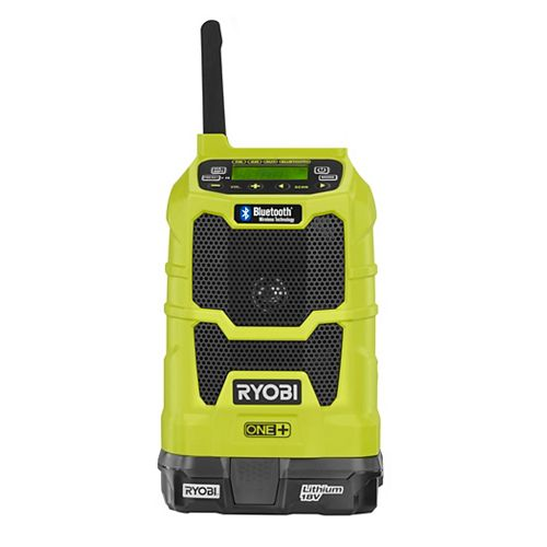 18V ONE+ Lithium-Ion Cordless Compact Radio Kit with Bluetooth Wireless Technology w/ Battery
