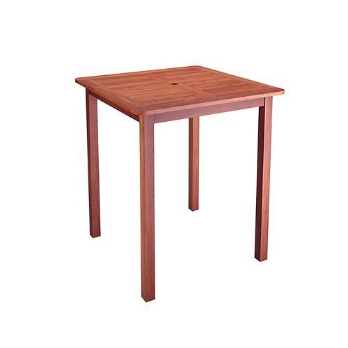 PEX-263-T Miramar Hardwood Outdoor Bar Height Patio Table in Brown Cinnamon