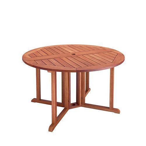 Table à abattants pour la terrasse en bois dur - Brun Cannelle