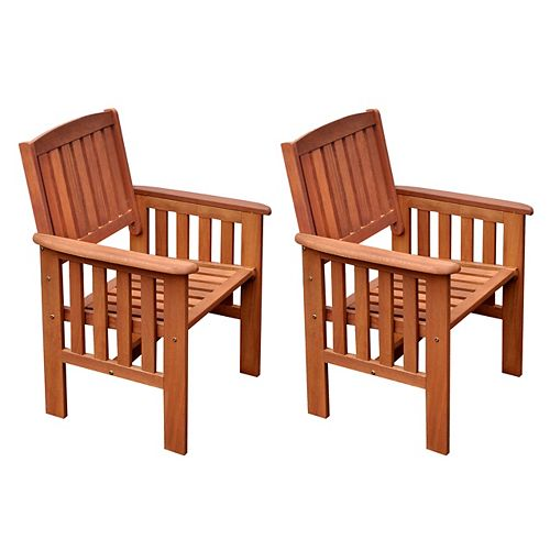 Miramar Hardwood Outdoor Armchair in Cinnamon Brown (Set of 2)
