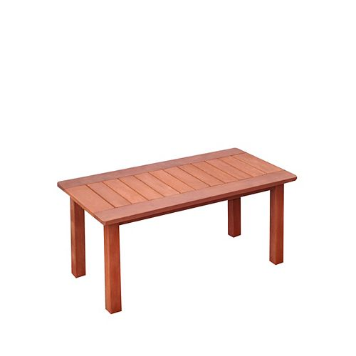 Miramar Hardwood Outdoor Coffee Table in Cinnamon Brown