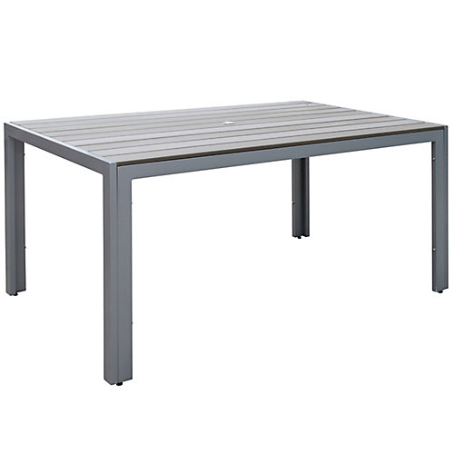 Gallant Outdoor Dining Table in Sun Bleached Grey