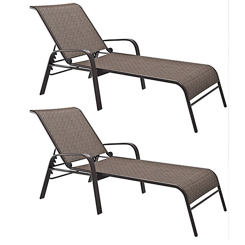 PZT-288-R Brown Reclining Loungers, (Set of 2)