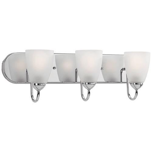 Progress Lighting Meuble-lavabo à 3ampoules en chrome poli de la collection Gather